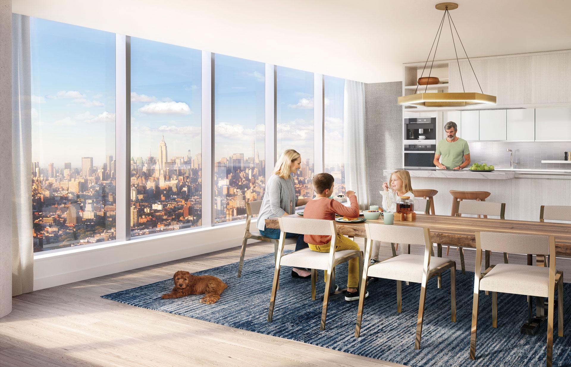 Manhattan Condominium Modern Kitchen
